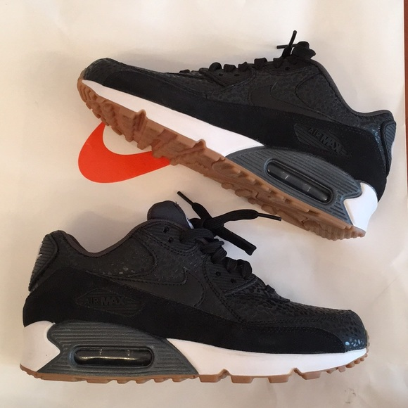 Nike Shoes New Air Max 90 Premium In Black And White Poshmark
